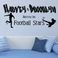 Personalised Born to be a Football Star WALL ART~ Wall sticker / decals